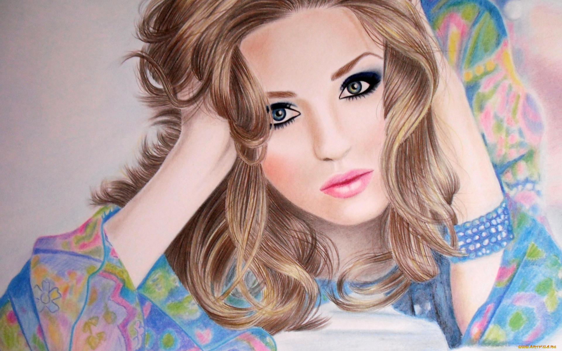 Нарисованные картинки девуш